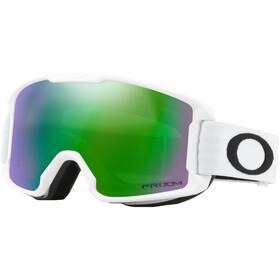 Oakley Line Miner Lunettes de ski Enfant, matte white/w prizm snow jade iridium